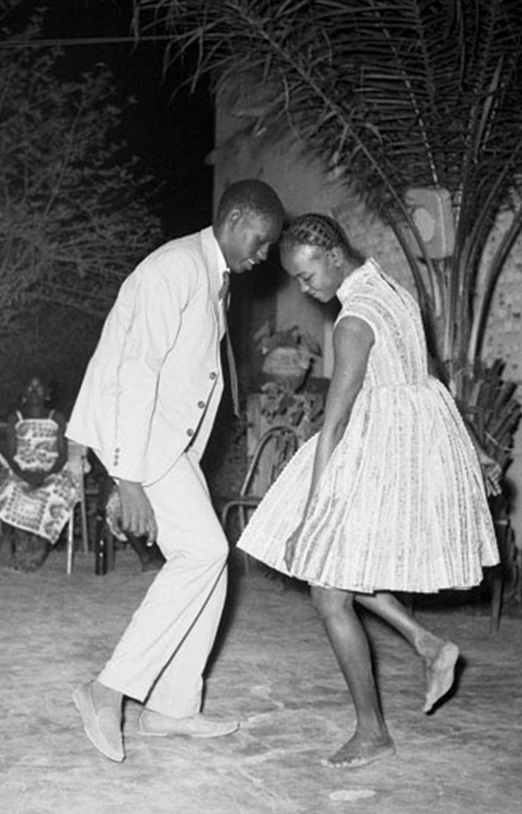 Couple dansant la nuit de Noël au Happy Club en 1963.