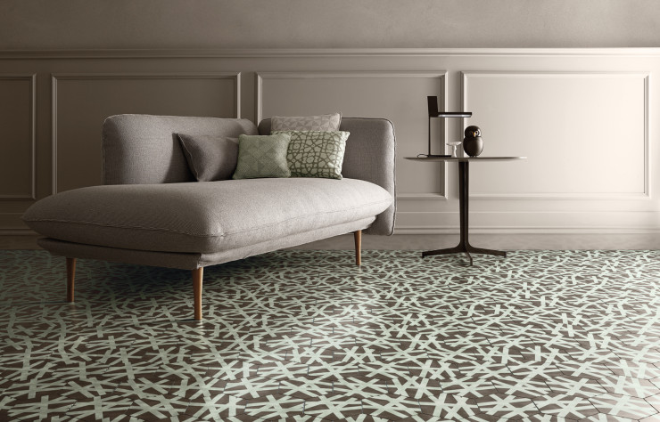Collection de carreaux ciment « Tisse vintage » de Paola Navone (Bisazza).