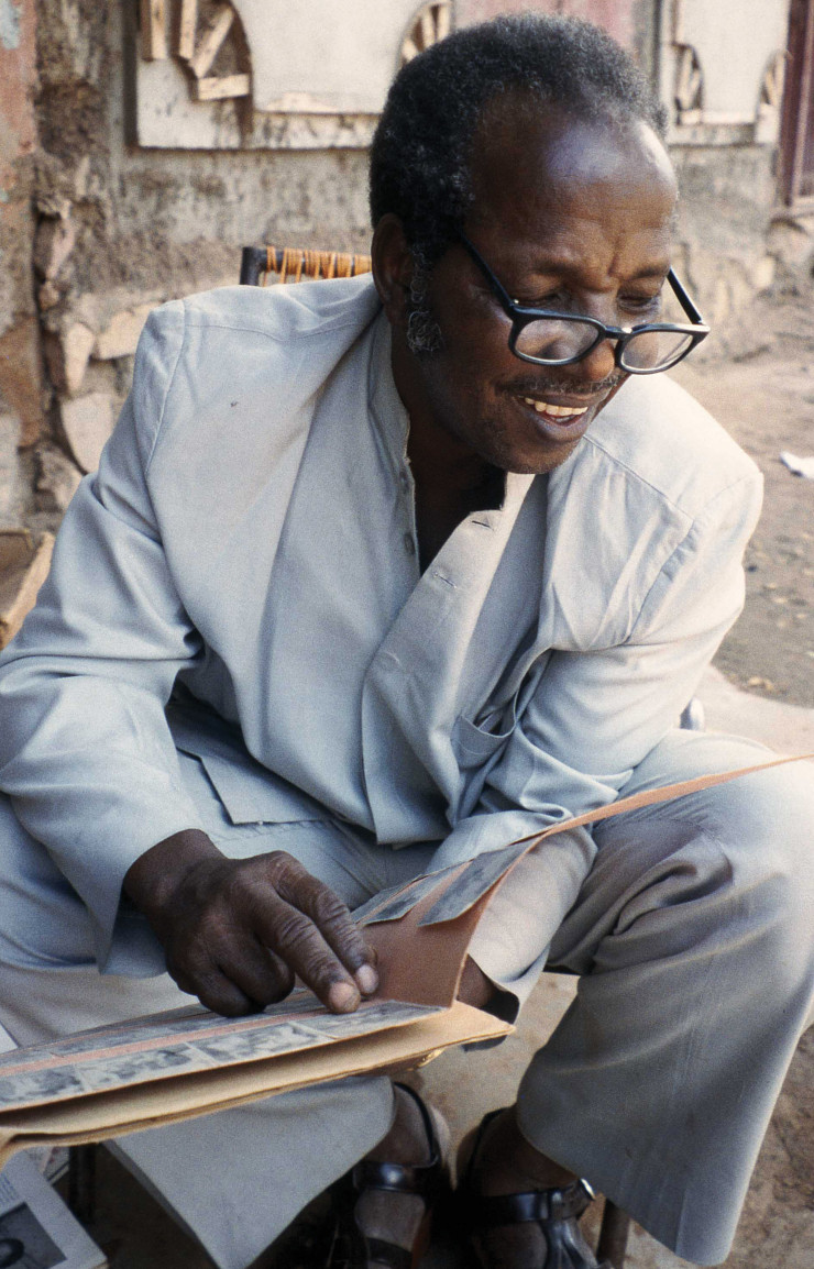 Portrait du photographe Malick Sidibé.