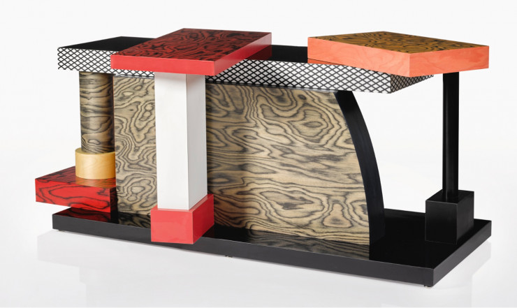 Table Tartar d'Ettore Sottsass (Memphis, 1985). Estimation : 3 000-5 000 £.