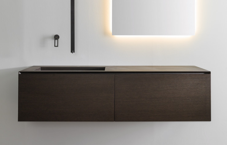 Elements de salle de bains, collection « Minim », Porcelanosa.