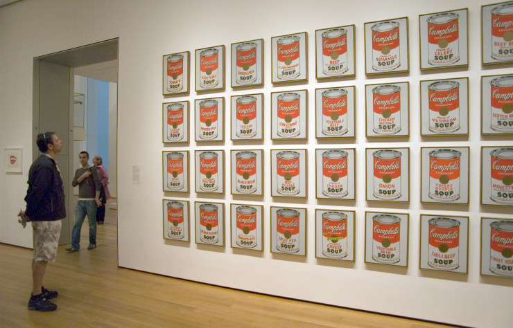 Œuvre d'Andy Warhol au MoMA.