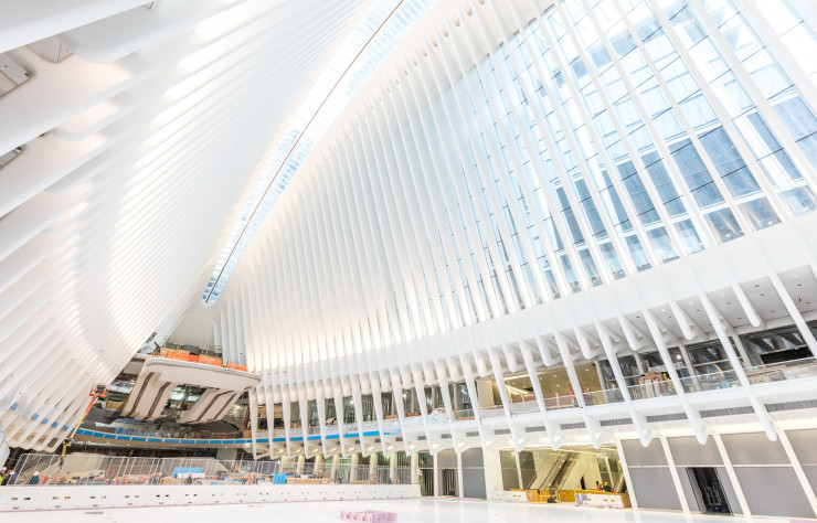 Le « World Trade Center Transportation Hub » de Santiago Calatrava.