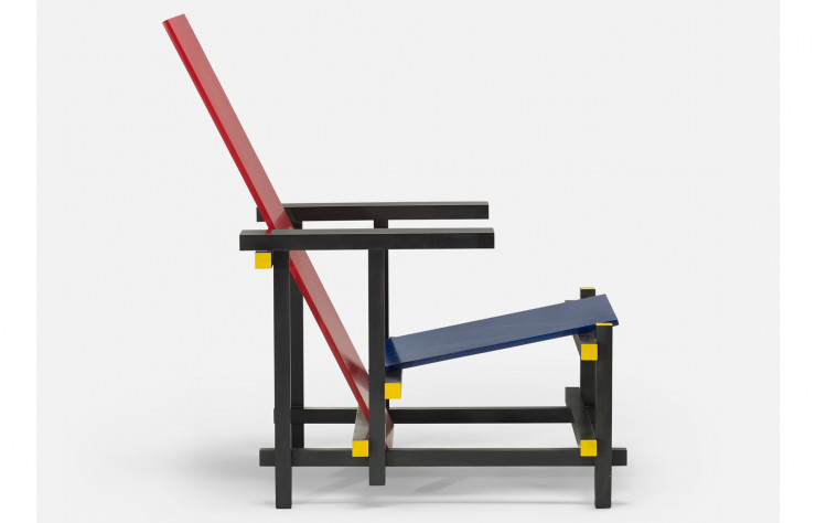 La Red Blue Chair de Gerrit Rietveld (1923, Cassina).