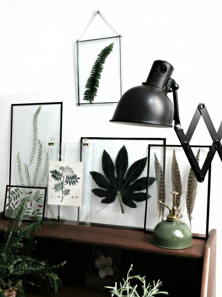 Une composition du blog danois Copenhagen Wilderness, qui propose un DIY herbier sur ses pages.