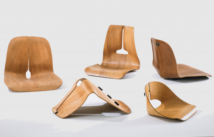 Prototypes d'assises en contreplaqué moulé (1941-1945).