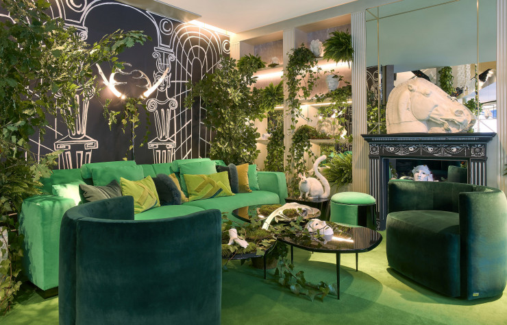 Une jungle opulente chez Luxury Living.