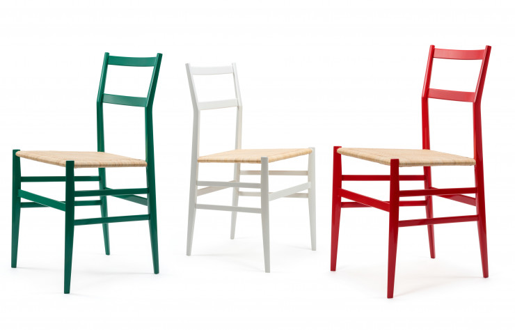 Chaises Superleggera de Gio Ponti (1957, Cassina).
