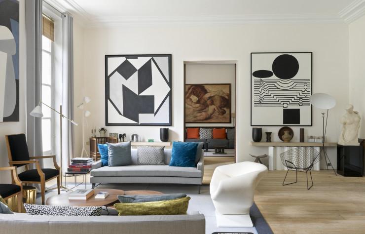 À Paris, l\'appartement de l\'architecte d\'intérieur Didier Gomez - IDEAT