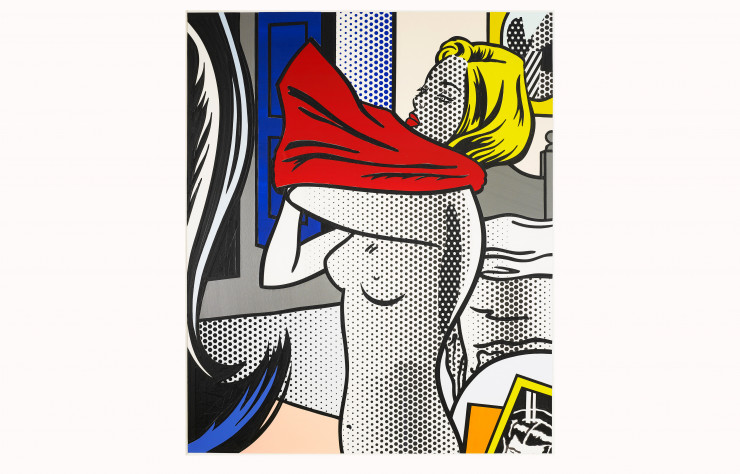 Collage for Nude with red Shirt de Roy Lichtenstein (1995).