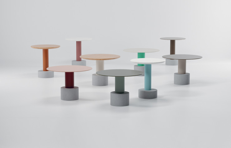 Tables « Roll » de Patricia Urquiola.