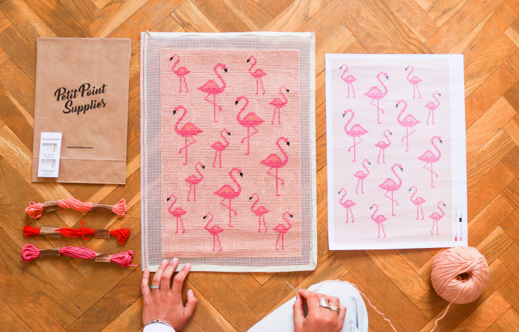 Les flamands roses de Floride dans la collection Miami…