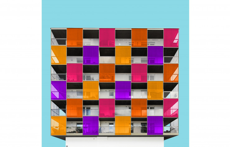 « Check Pattern », 2017 (immeuble To3 – Tetris, Salzburg, 2014).
