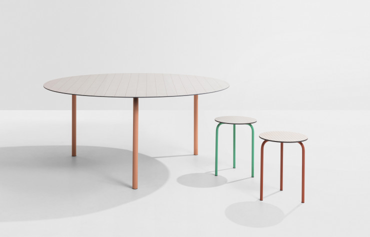Table et tabouret « Check ».