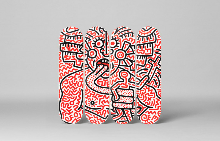 Man and Medusa de Keith Haring (Skateroom).
