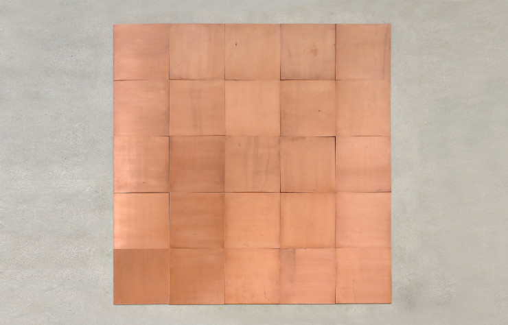 Carl Andre, « Fifth Copper Square », 2007.