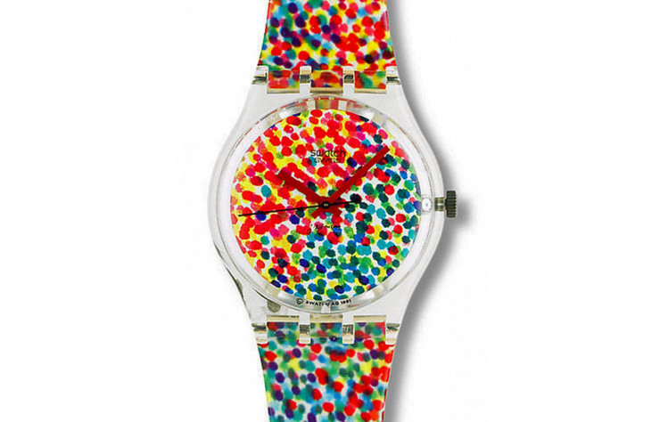 Montre A lot of dots d'Alessandro Mendini (Swatch, 1991).