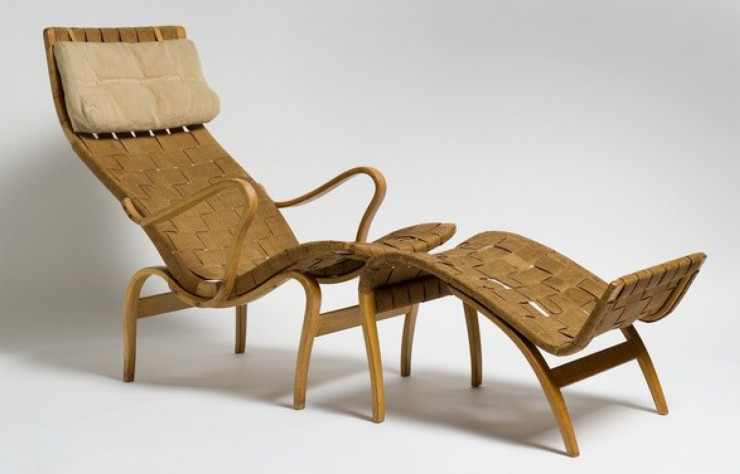 Chaise longue « Pernilla » de Bruno Mathsson (1943).