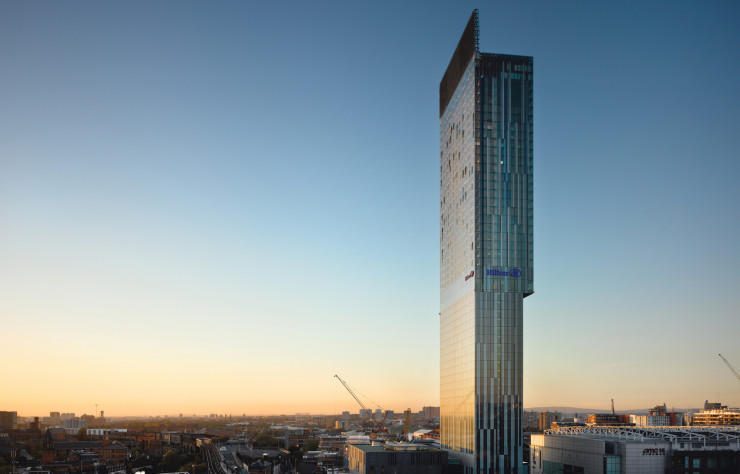 Manchester Beetham Tower (Hilton Tower) de SimpsonHaugh (2006).