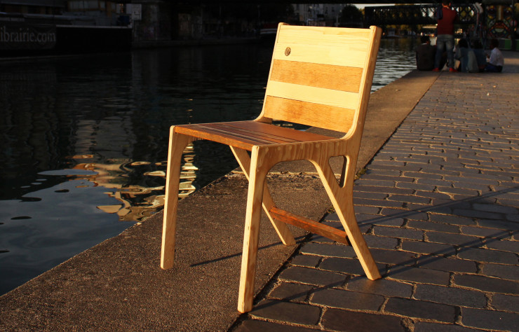 Chaise « Gilbert », collection « Ourcq ».
