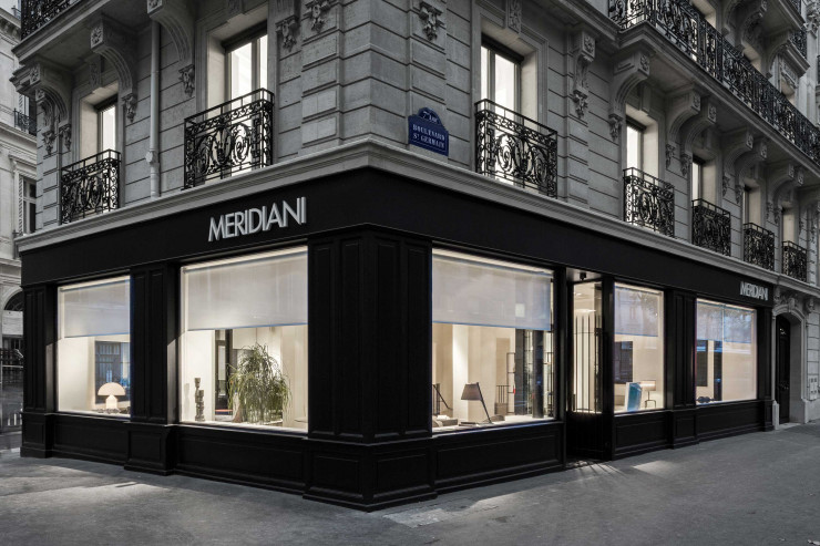 La boutique Meridiani, étape incontournable du boulevard Saint-Germain.