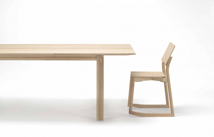 Table Spectrum ST et chaise Panorama du duo allemand Geckeler Michels.