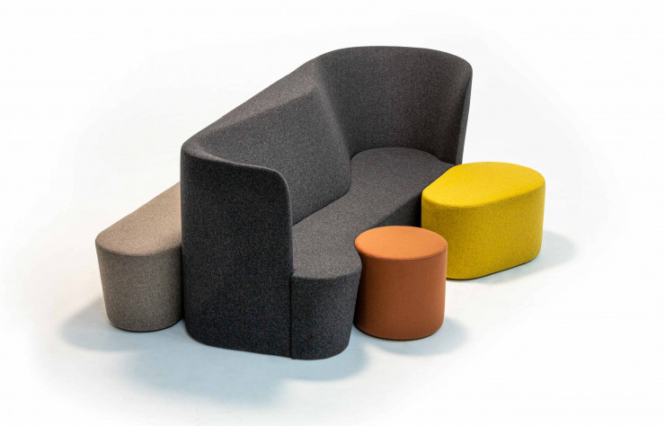 Collection d'assises « Taba » d'Alfredo Häberli (2020, Moroso).