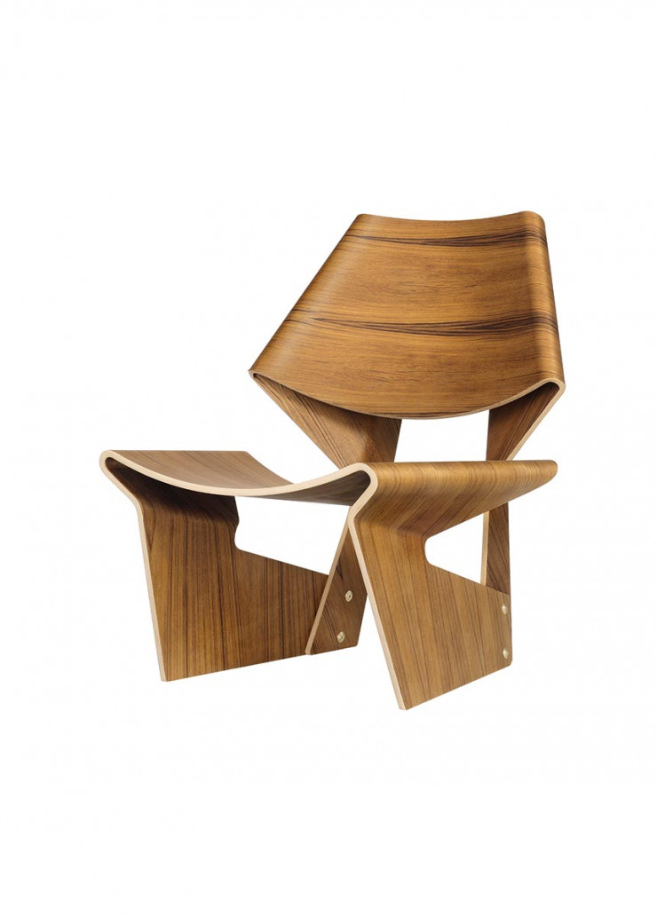 Chaise GJ Bow Chair (Poul Jeppesen, 1963).
