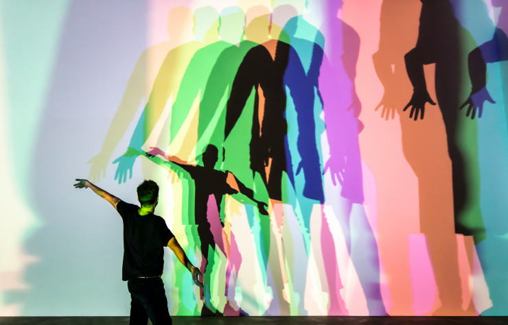 Olafur Eliasson Your uncertain shadow (colour), 2010.
